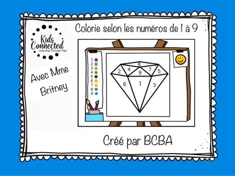 Kit de peinture par numéros de 1 à 9. Le diamant  by Kids  Connected