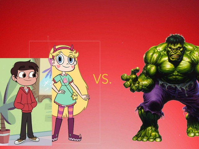 Hulk Vs Star Vs The Forces Of Evil by George awrahim