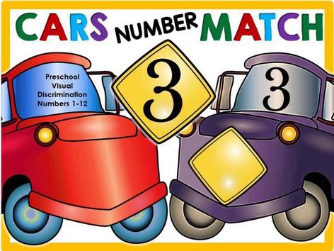 Cars Number Pop - Visual Discrimination 1-12 (EN UK) by Yara Habanbou