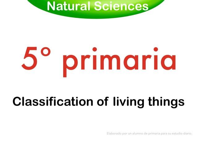 Classification of living things by Elysia Edu