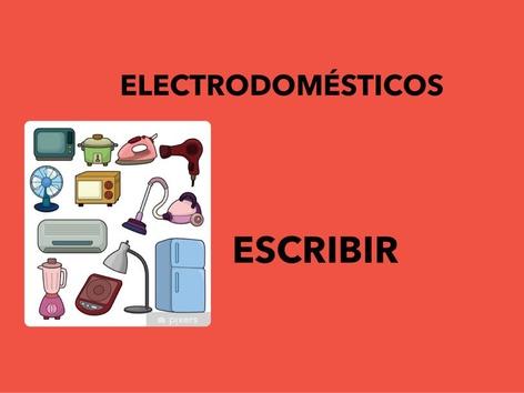 Electrodomésticos.Escribir by Francisca Sánchez Martínez