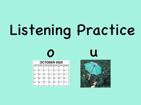 SHC Listening Practice Short o and u by Sara Anderson
