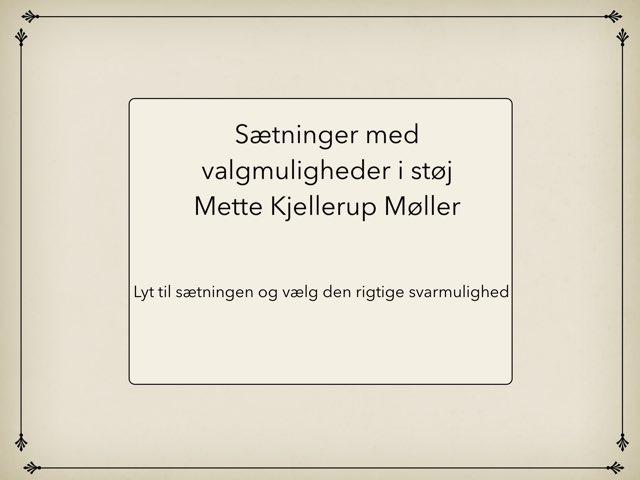 Genkendelse Af Navne I Støj by Mette Kjellerup Møller