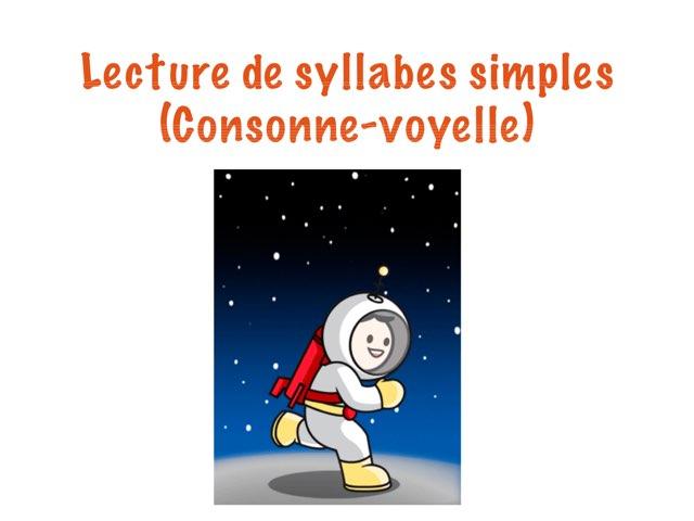 Lecture de syllabes CV by Marie-Claude GR