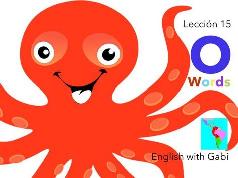 Lección 15: O Words- Palabras en Inglés  by English with Gabi אנגלית עם גבי