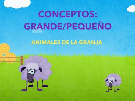 CONCEPTOS: GRANDE/PEQUEÑO (ANIMALES DE LA GRANJA) by Jose Sanchez Ureña