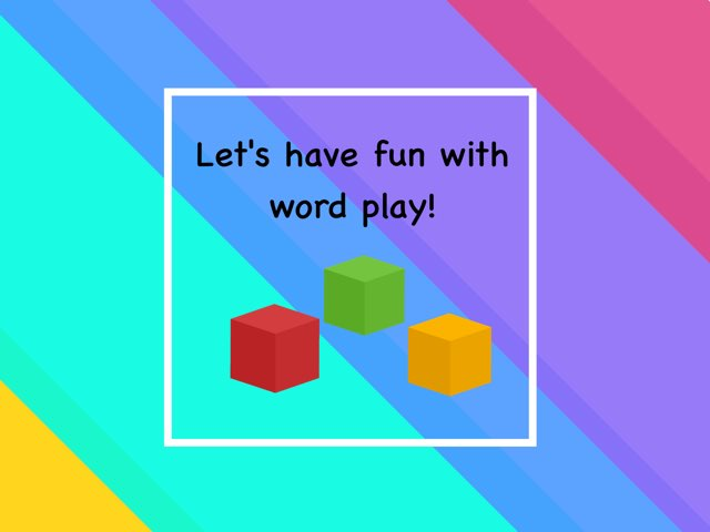 Word Play 3-words in sentences by Katharine Everson