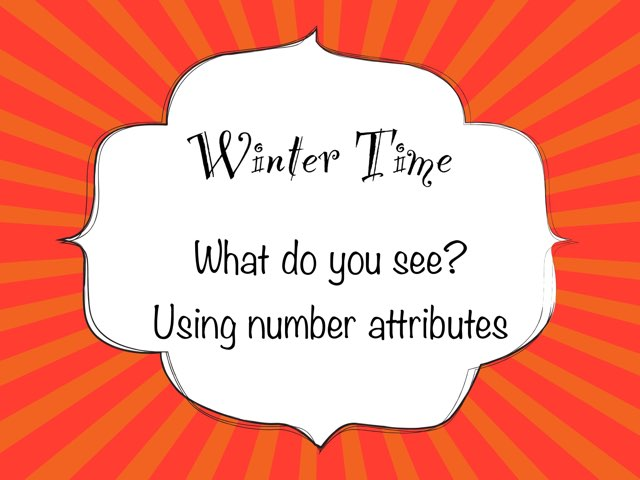 Winter Time Number Attributes For PECS by Karen Souter
