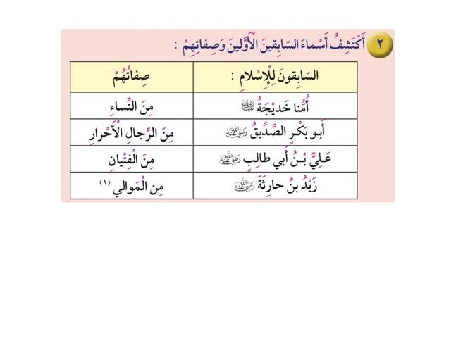 صفات السابقين للإسلام by علياء الدوسري