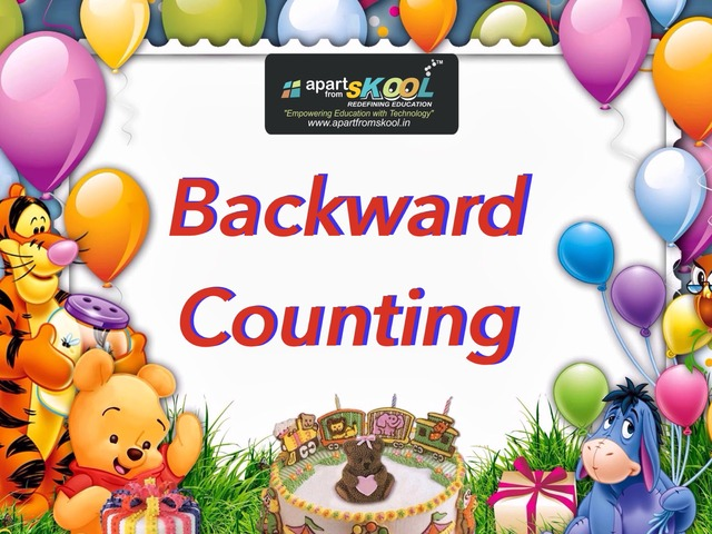 New Backward Counting  by TinyTap creator