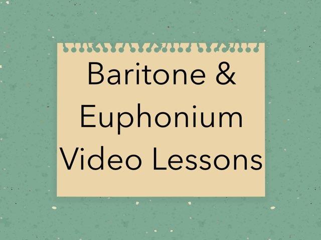 Baritone/Euphonium Video Lessons by Alexandra Finnie