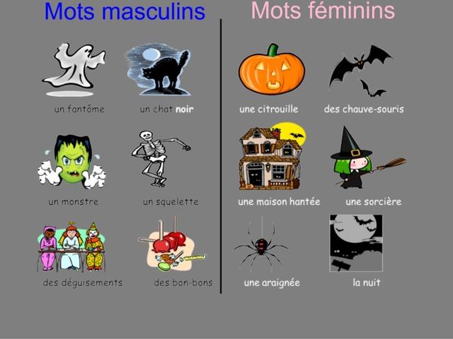 Le vocabulaire de l'Hallowe'en by Mlle Decker