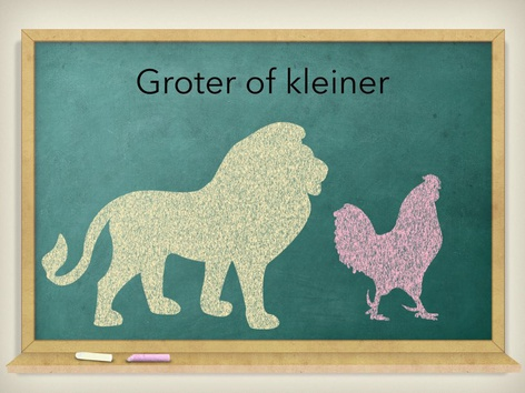 Groter Of Kleiner by Juf ALISHA