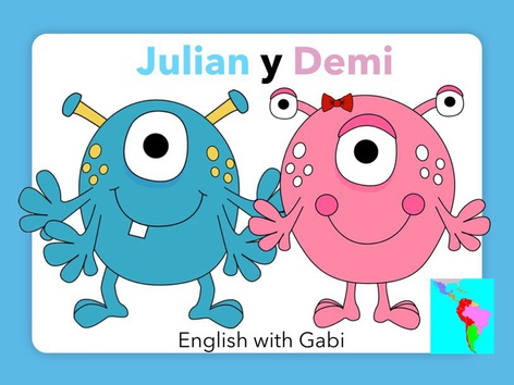 Julian y Demi- Leer Historias en Inglés  by English with Gabi אנגלית עם גבי