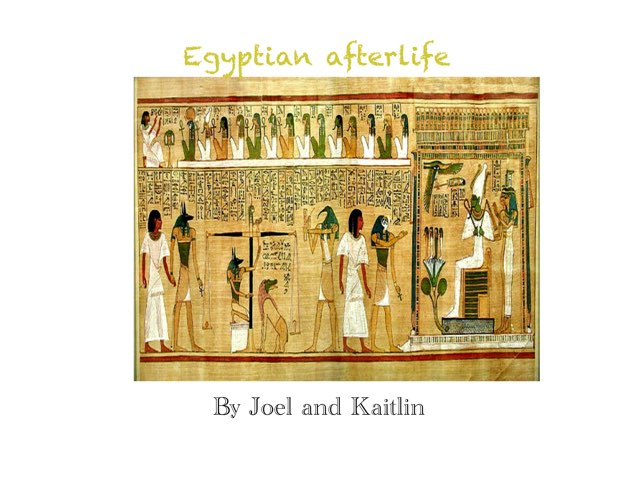 Egyptian Afterlife Game By Joel And Kaitlin by St Cecilias