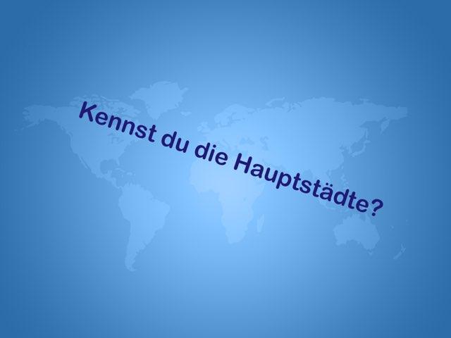 Kennst Du die Hauptstädte?  by Nadja Blust