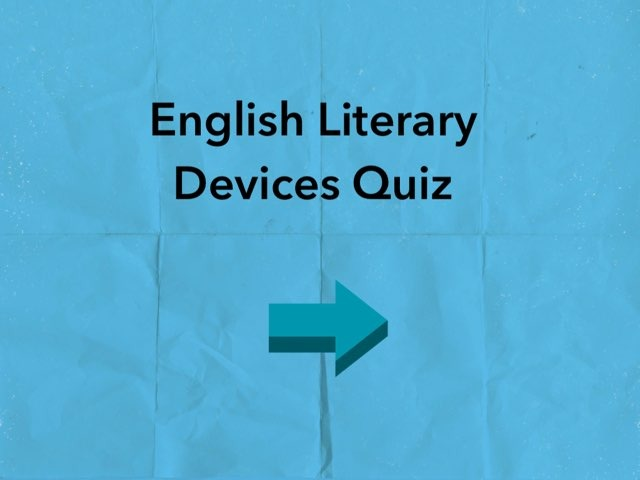 English Literary devices Quiz by Josh Dobos