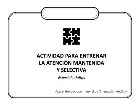 Atención Mantenida Y Sostenida (Adultos) by Zoila Masaveu