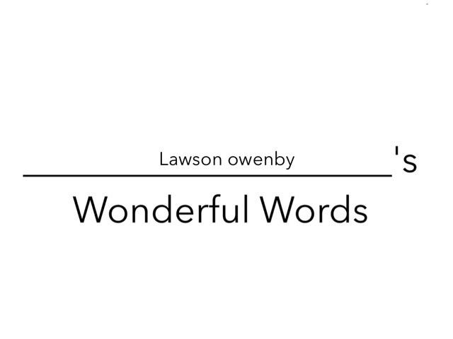 Lawson's Wonderful Words by Erin Moody