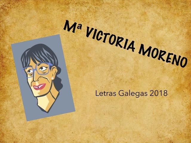 Que sabes de Mª Victoria Moreno? by Celia Sanfiz