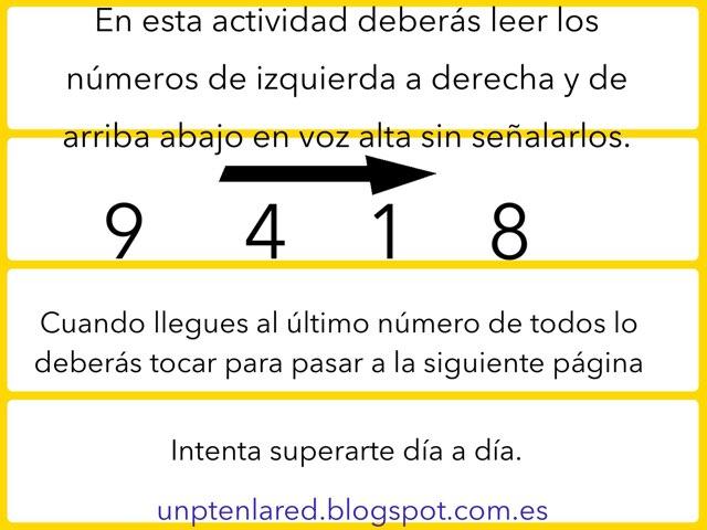 Lectura De Números 1. by Jose Sanchez Ureña