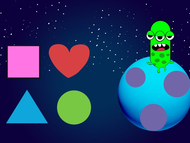 Help the alien find his spaceship find the correct shape.  by Pilot Elementary