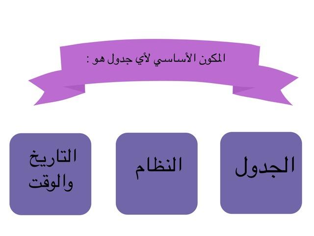 مكونات قاعدة البيانات by امل العمري