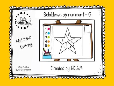 Schilderen Op Nummer 1 - 5 by Kids  Connected
