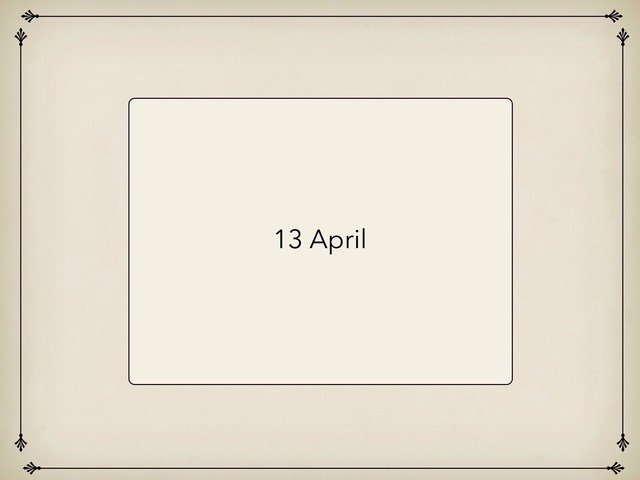 13 April by Resource Room