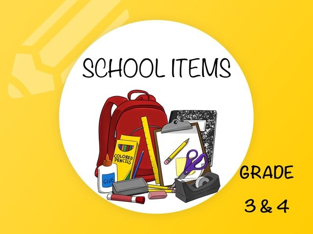 SCHOOL ITEMS (easy) by Laurence Micheletti