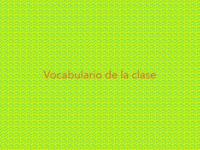 Vocabulario En Inglés  by Tania Guerra