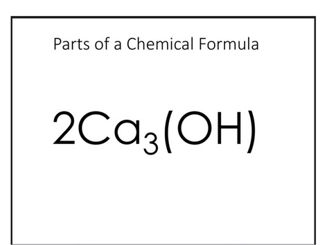 Parts Of A Chemical Formula by Rebecca Parrott