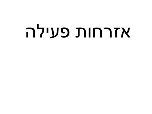 אזרחות פעילה by יעל ביסמוט