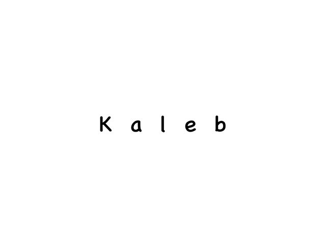 Kaleb's Name Puzzle by Beth Miragliotta
