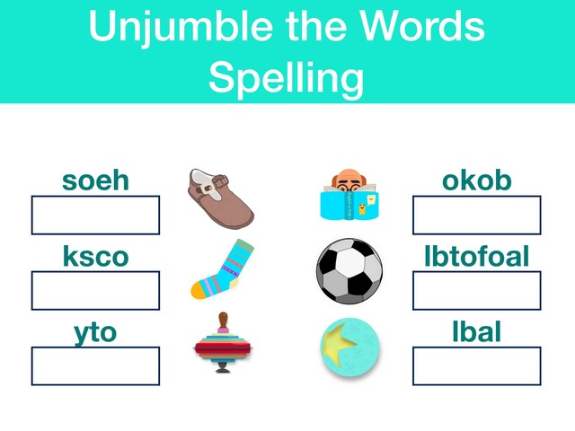 Spelling - Unjumble the letters - Possessions & Clothes by Teeny Tiny TEFL