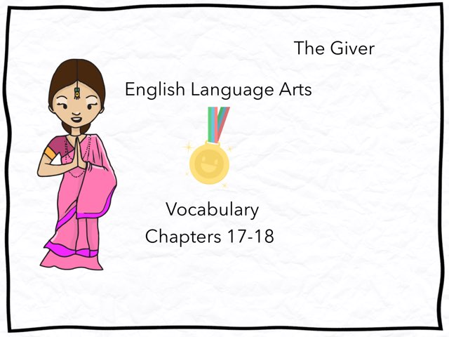 The Giver Vocabulary  by Timberetta Wolf