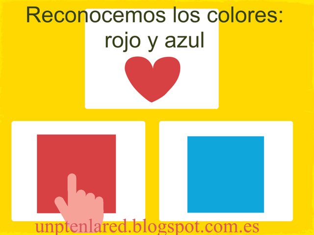 Reconocer Colores: Rojo Y Azul. by Jose Sanchez Ureña