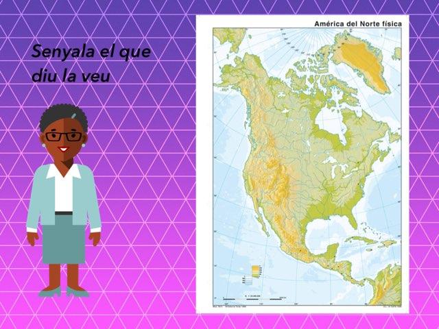 Mapa Fisic America Nord by Alexia Lopez