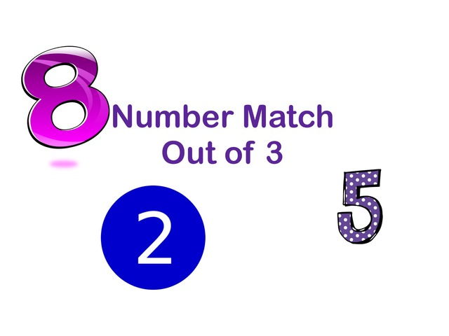 Number Match Out Of 3 by Jennifer Cunningham