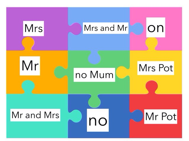 Reading: Mr, Mrs, no, on + by Marie Himsworth