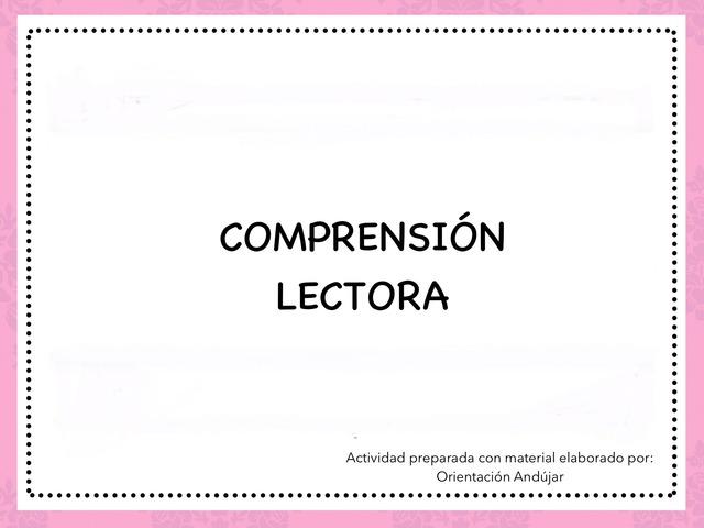 Comprensión Lectora (Dos Frases Similares) by Zoila Masaveu
