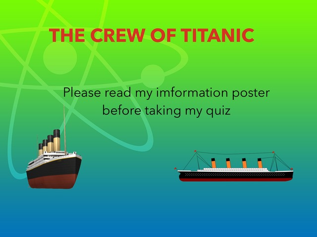tianic quiz by RGS Springfield