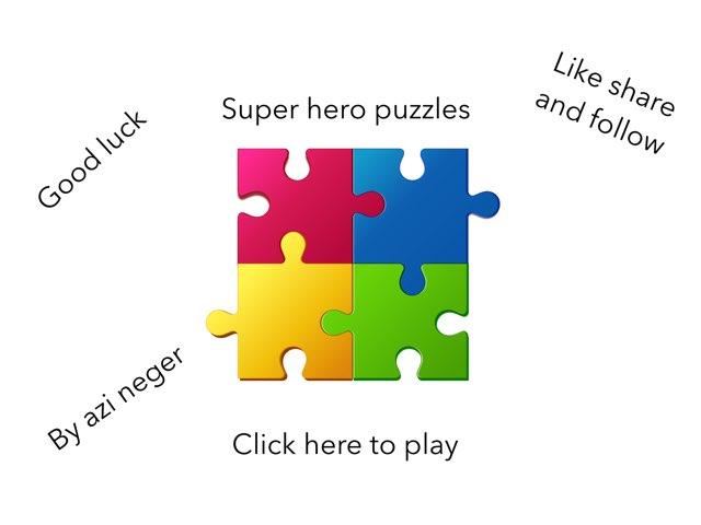 Super Hero Puzzles by Azi Nege