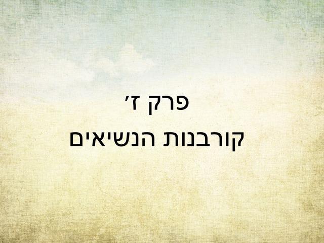 במדבר פרק ז by מכללה תלפיות