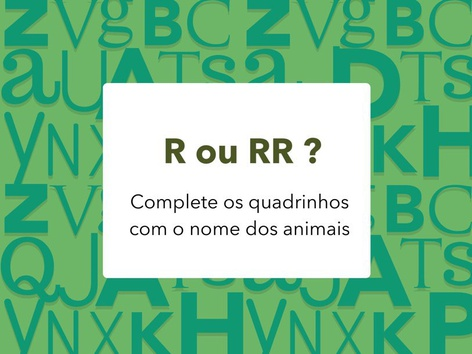 R ou RR? by Lia Trimer Trimer