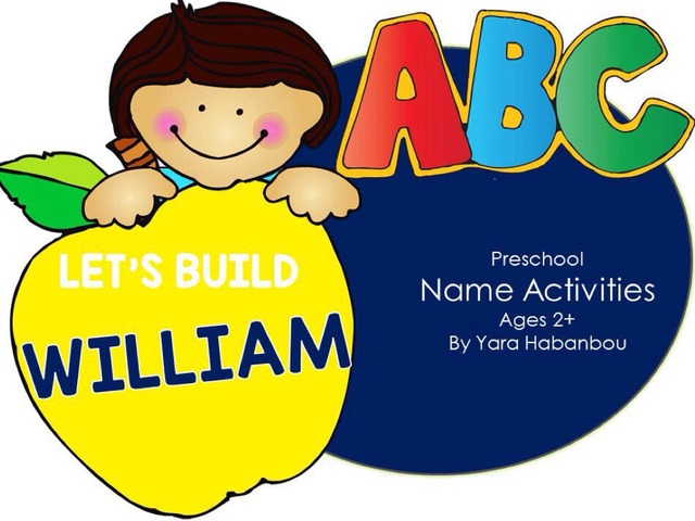 Name Activities - Let's Build William by Yara Habanbou