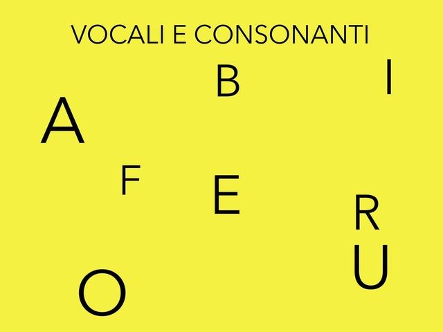 Le Vocali by Sara Barbato