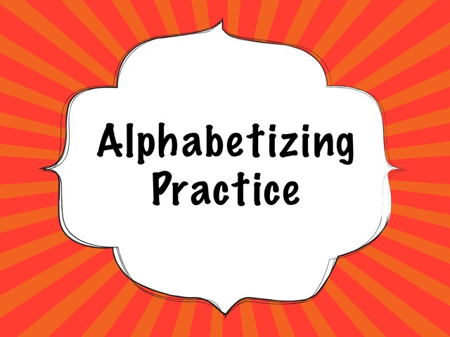 DPISD 7LA Alphabetizing Practice by Leslie Kilbourn
