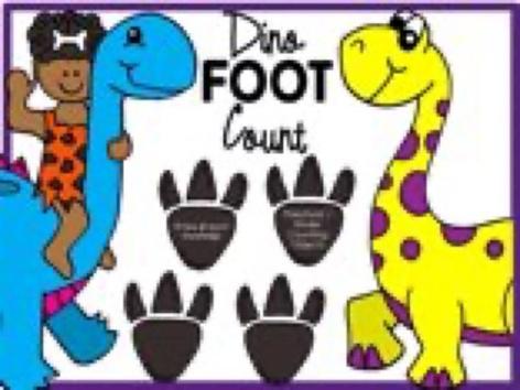 Dinosaur Footprint Count - Numbers 1-12 by Yara Habanbou