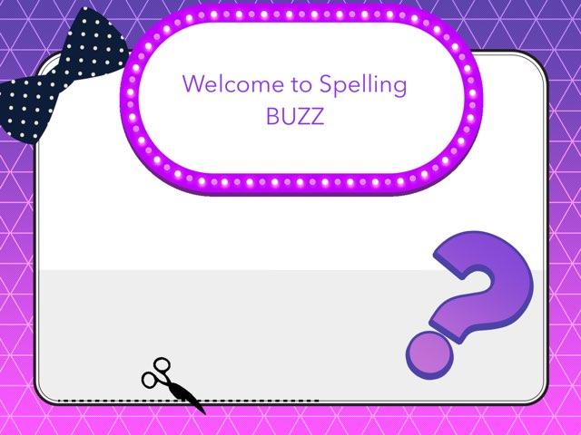 Spelling BUZZ Amy Alona by Wheeler Primary